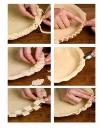 Как сделать красивый бортик у пирога?