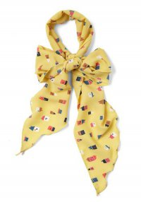 Желтый шарфик для головы
