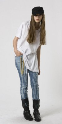Мятая одежда: джинсы
