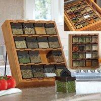 Бамбуковый шкафчик для хранения специй