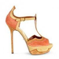 Яблочно-персиковые туфли от  Sergio Rossi