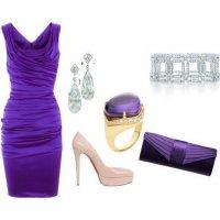 Фиолетовый образ для торжественного случая