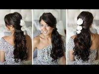Красивая летняя прическа на длинные волосы