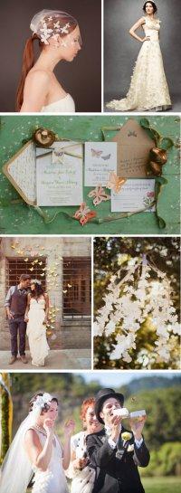 Бабочки на свадьбе
