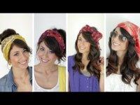 4 способа сделать прическу с шарфом
