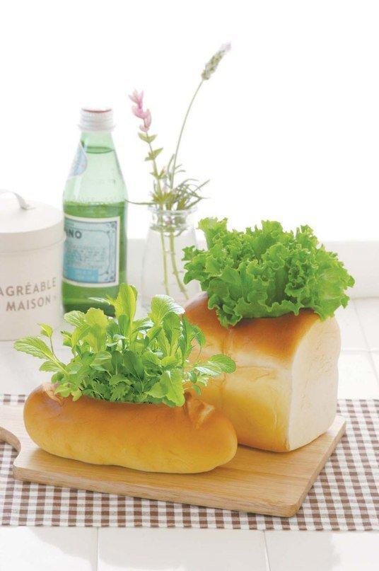 Горшочки для зелени в виде булок