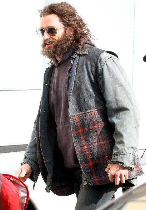 Хью Джекман на съемках нового фильма «Россомаха»