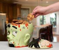 Банка для хранения печенья в виде головы зомби
