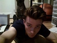 Крис Колфер и его кот Брайан