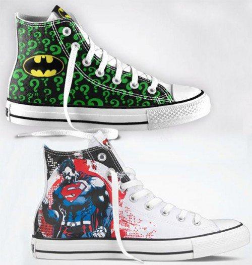 Кеды Converse в стиле DC комиксов