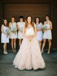 Пушистое свадебное платье