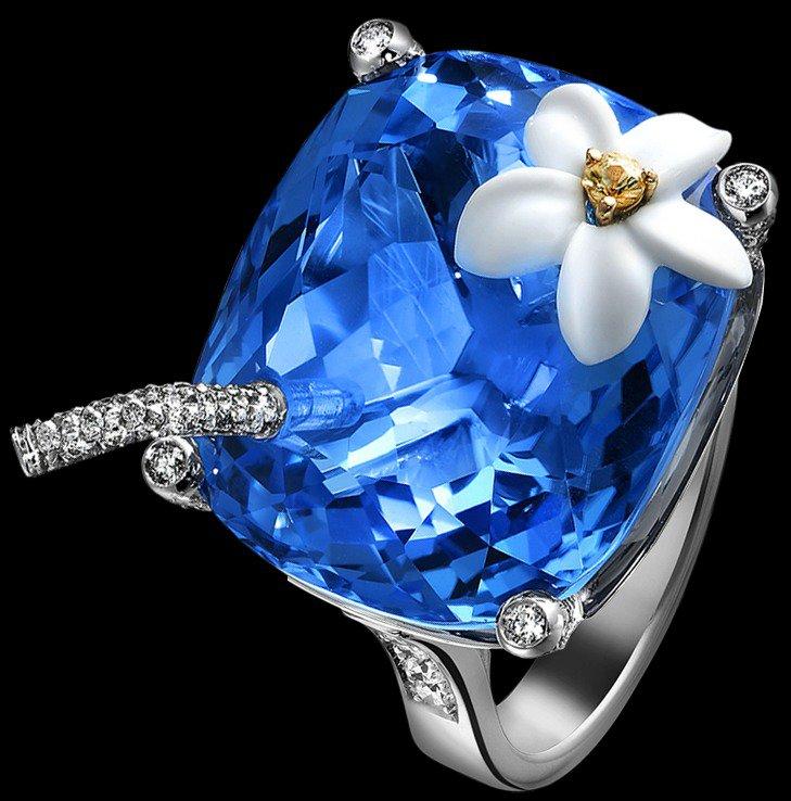 Коктейльные кольца Piaget: Голубые Гавайи