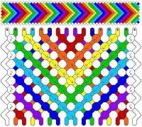 Радужная схема плетения фенечки своими руками