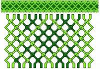 Схема для плетения красивой фенечки зеленого цвета