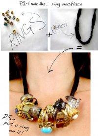 Ожерелье из колец своими руками