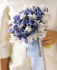Текстурный голубой букет невесты