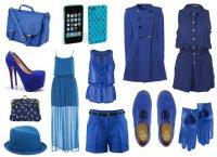 Гардероб в синей гамме
