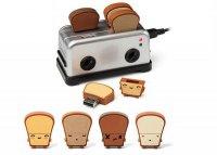 USB Toaster Hub и флешки в виде тостов
