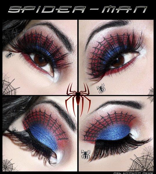 Идеи макияжа: «Спайдермен»