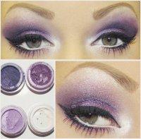 Красивый макияж в фиолетовой гамме