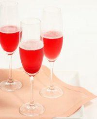 Шампанское с красной смородиной