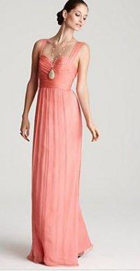 Элегантное розовое шелковое платье