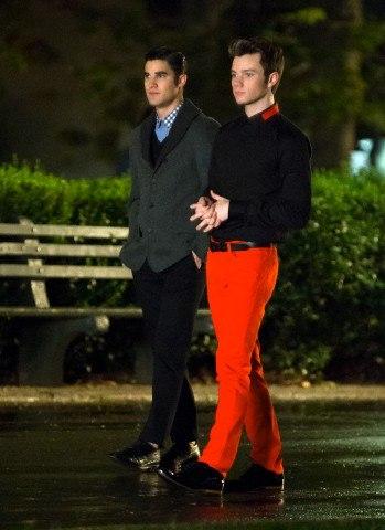 Крис Колфер и Даррен Крисс на съемках Glee в Нью-Йорке. Осторожно, спойлеры!