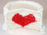 Торт с сердцем внутри