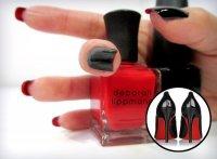 Красное и черное: двусторонний маникюр