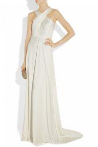 Свадебное платье из трикотина