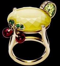 Коктейльные кольца Piaget: Lemon Fizz