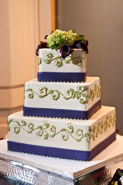 Торты свадебные квадратные