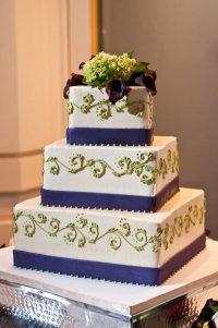Свадебный торт с полосочками