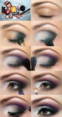 Сливово-дымчатый макияж