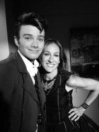 Новые фото со съемок 4 сезона Glee: Крис Колфер и Сара Джессика Паркер