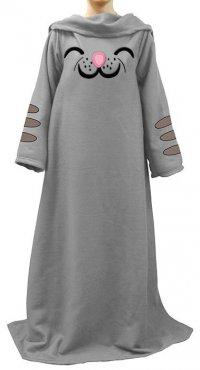 Мягкое одеяло-платье с котенком