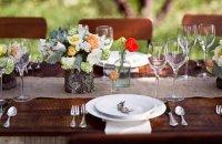 Сервировка свадебного стола: стол для свадьбы в деревенском стиле