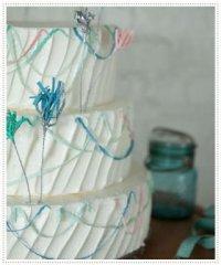 Свадебный торт с конфетти