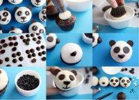Украешение капкейков «Панда»