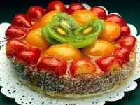 Как украсить торт фруктами: фрукты под желе