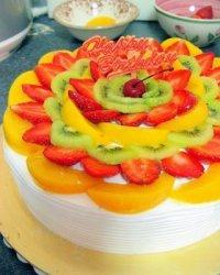 Как украсить торт фруктами: фруктовые круги