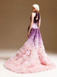 Платье от Versace с эффектом омбре
