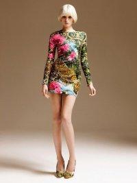 Платье с цветами и леопардом