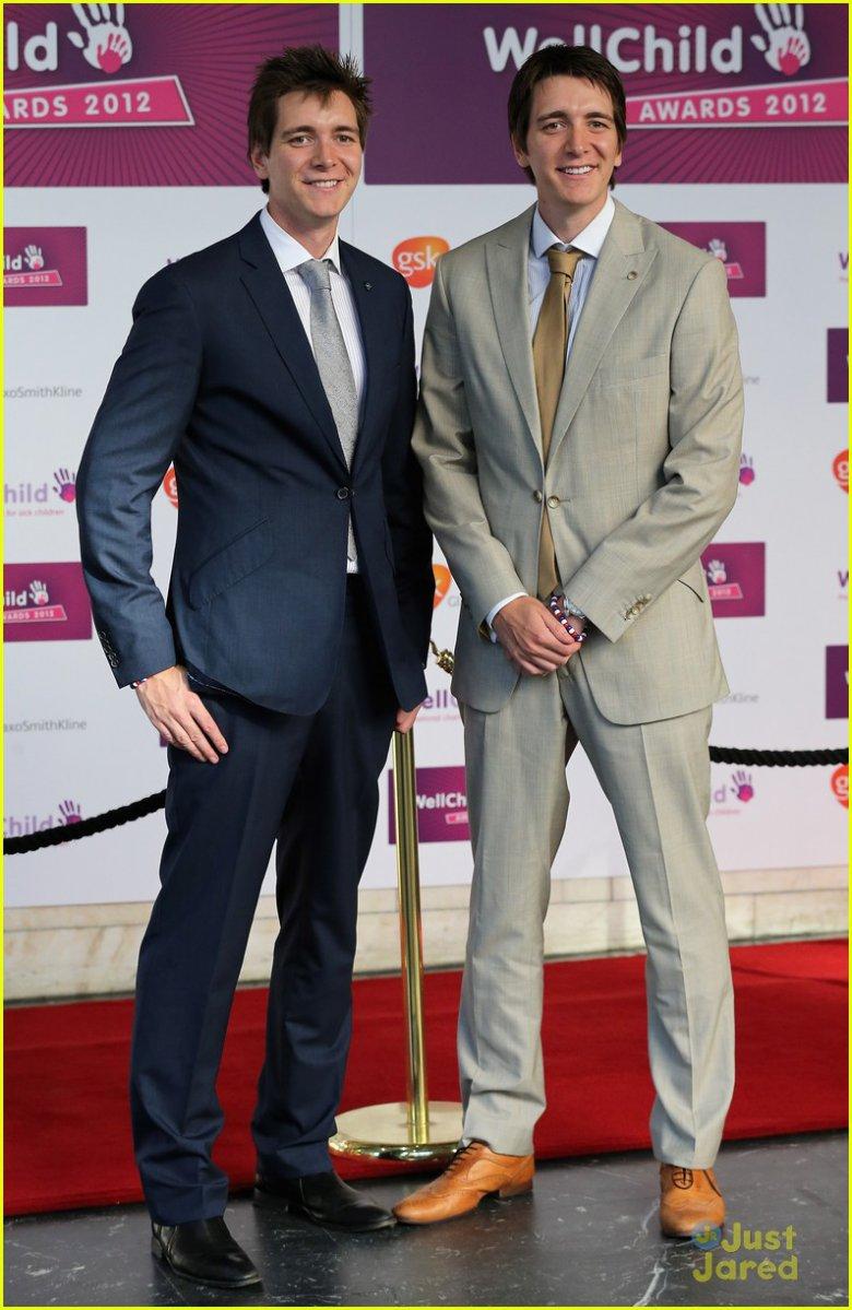 Джеймс и Оливер Фелпс на WellChild Awards 2012