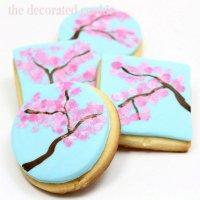 Идеи для украшения печенья: ветка сакуры