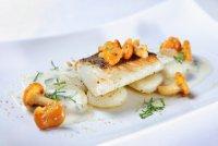 Рыба с грибным соусом