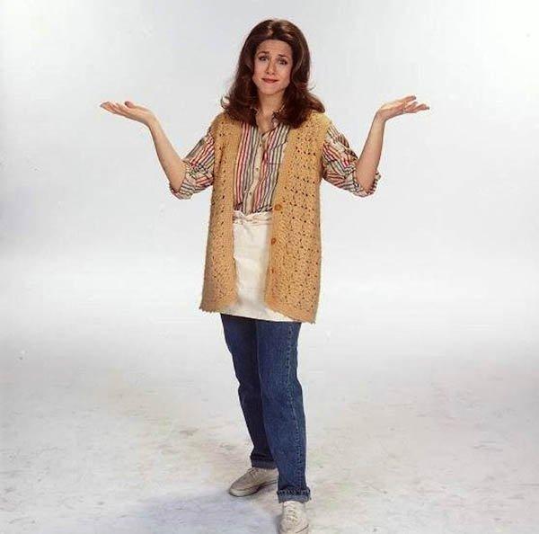 Дженнифер Энистон в домашней одежде