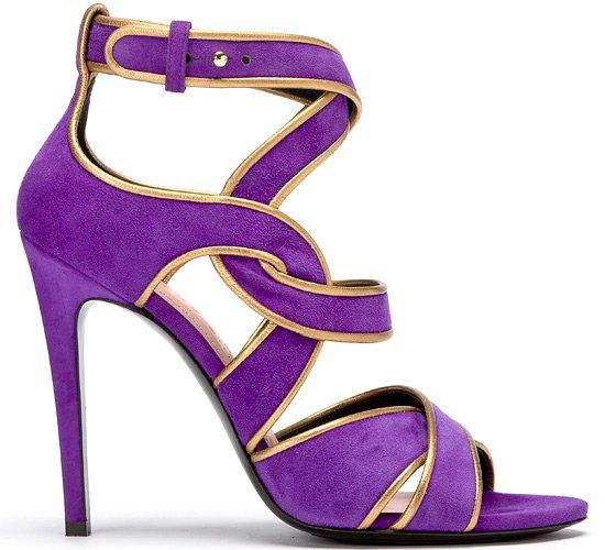Фиолетовые босоножки  Barbara Bui