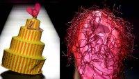 Фрик-мода на подиумах: девушка-торт и глова в проводах