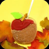 Идеи для украшения печенья: яблоко в карамели